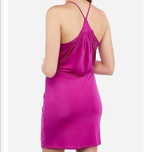Express Dresses - NWT Express Satin Twist Front Mini Dress M